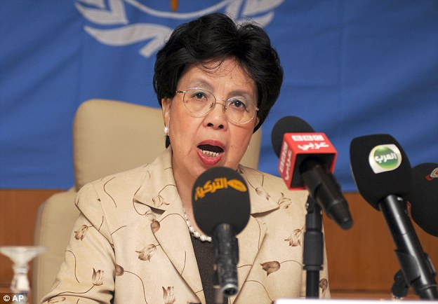 WHO director general Dr Margaret Chan said: 'Why are clinicians still empty handed, with no vaccines and no cure? Because Ebola has historically been confined to poor African nations'