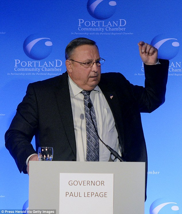 Governor Paul LePage has said he will'exercise the full extent of his authority' to rein the nurse in and has insisted: 'I don't want her to be within three feet of anyone'