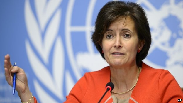 Head of global response and alert at the WHO, Isabelle Nuttall, 16 October 2014